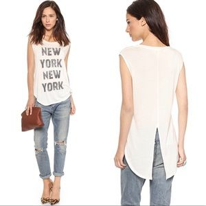 Haute Hippie Cream Tank Tail New York Medium